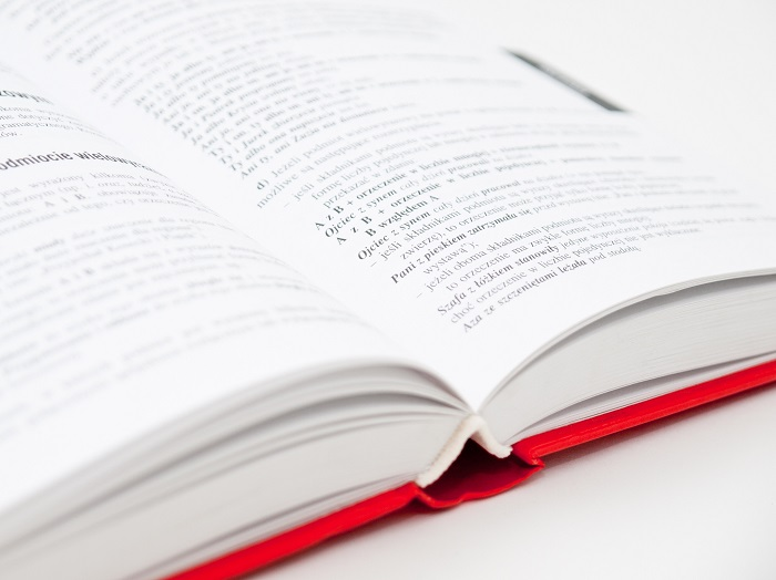 close up of open book about how to write a book review
