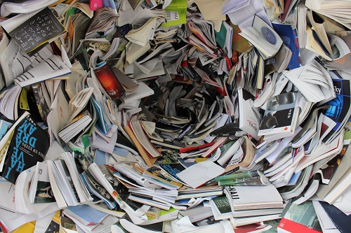 pile of covered books on reading comprehension