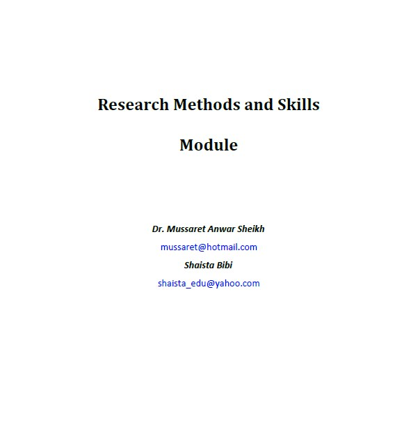 research methods and skills