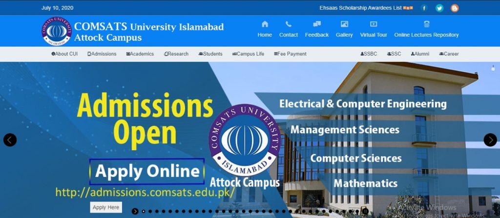 comsats admissions