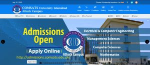 Read more about the article COMSATS University Attock | COMSATS Admissions – 2021