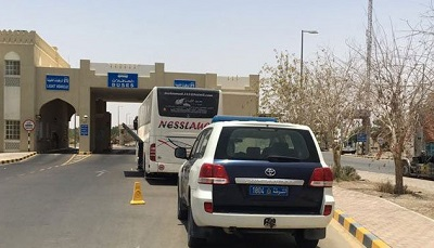 vehicles Travelling out of Oman