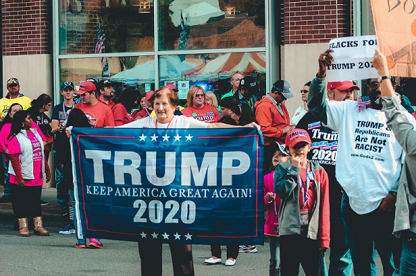 trump rally 2020 showing US Presidential Elections