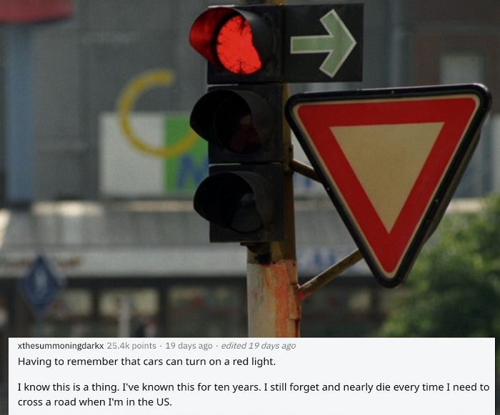 red traffic signal with green arrow mark showing the american problems