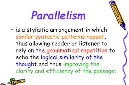 Text showing parallel structure